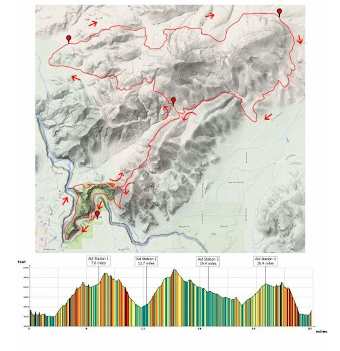 Smith Rock Ascent Mappa del percorso