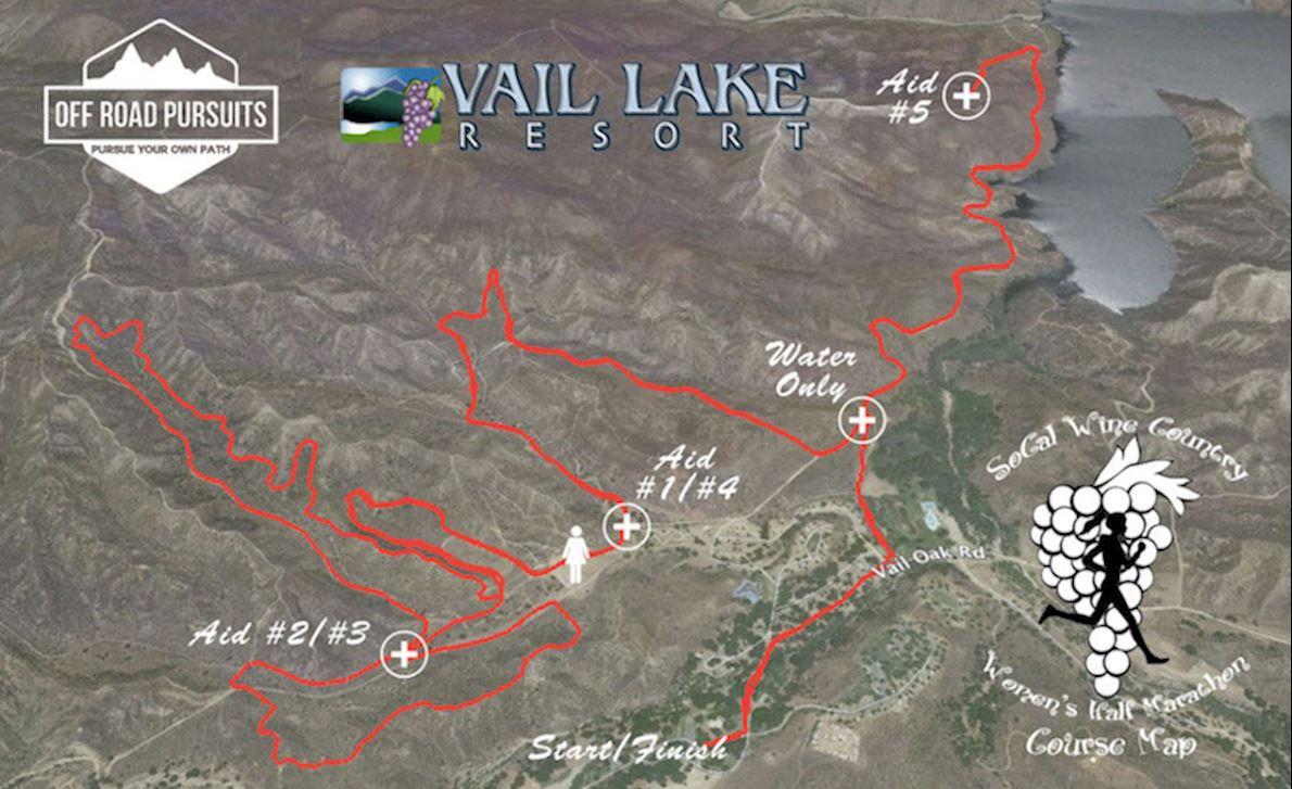 SoCal Wine Country Women's Half Marathon & 5k 路线图