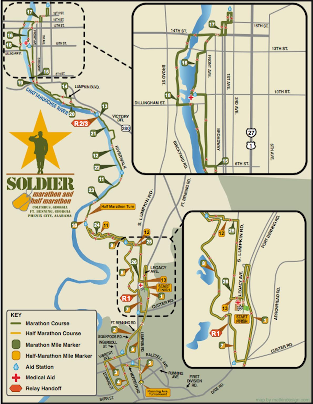 Soldier Marathon Mappa del percorso