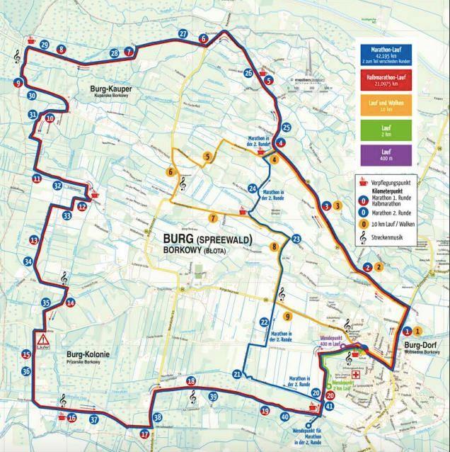 Spreewald Marathon 路线图