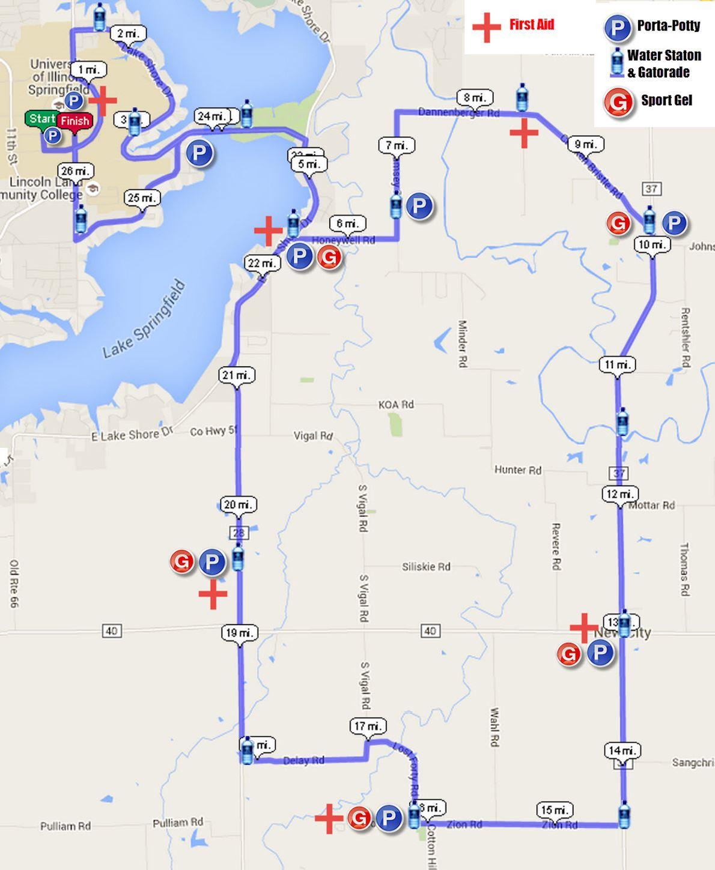 Springfield Marathon MAPA DEL RECORRIDO DE