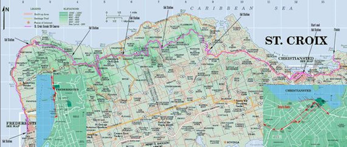 St. Croix Scenic 50 MAPA DEL RECORRIDO DE
