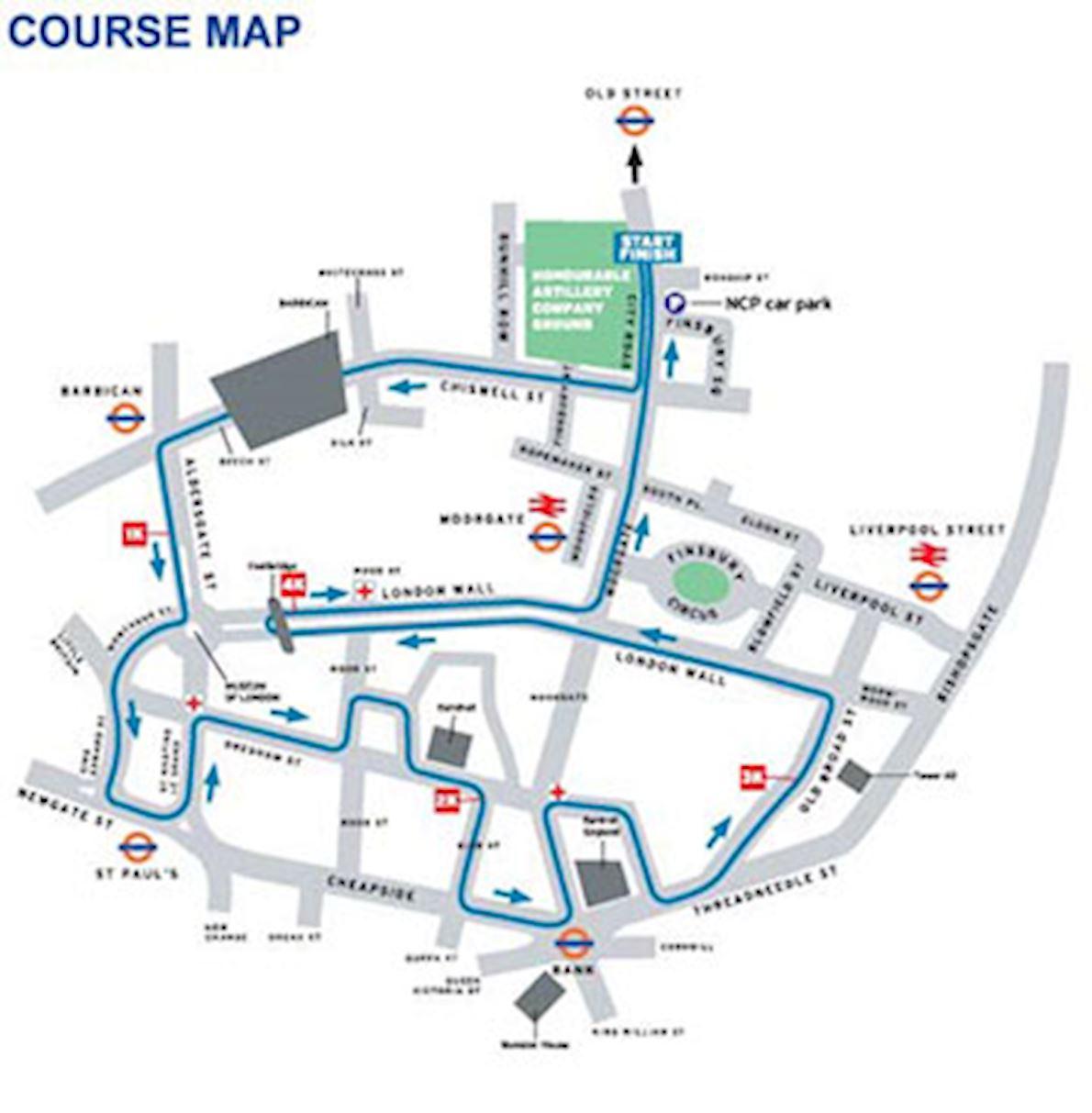 Standard Chartered Great City Race Mappa del percorso