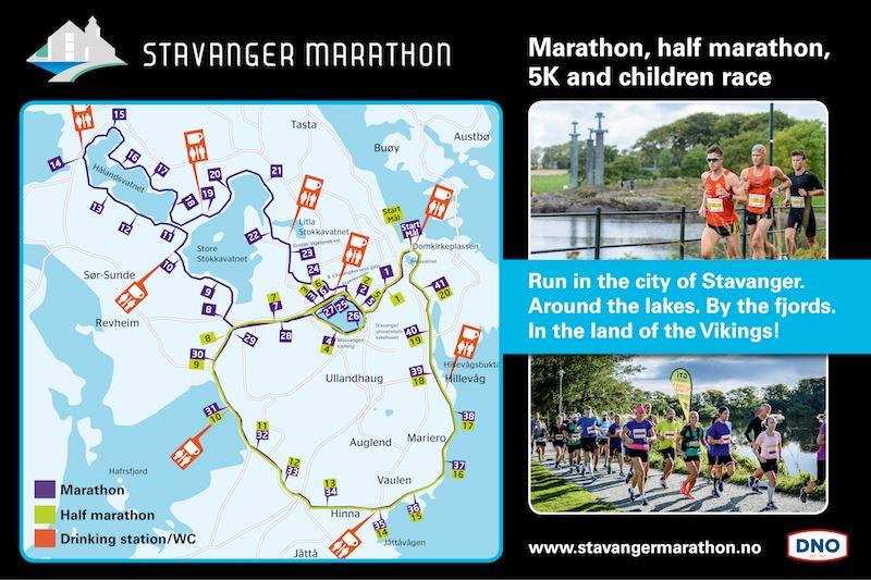 Stavanger Marathon 路线图