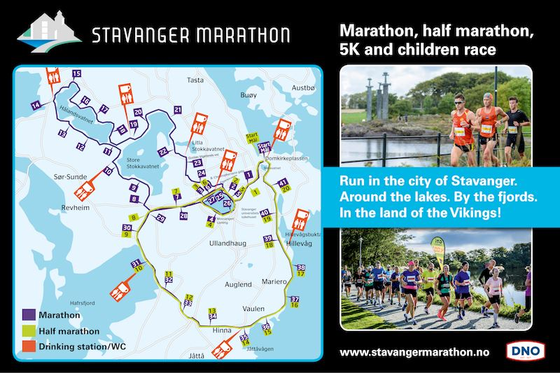 Stavanger Marathon MAPA DEL RECORRIDO DE