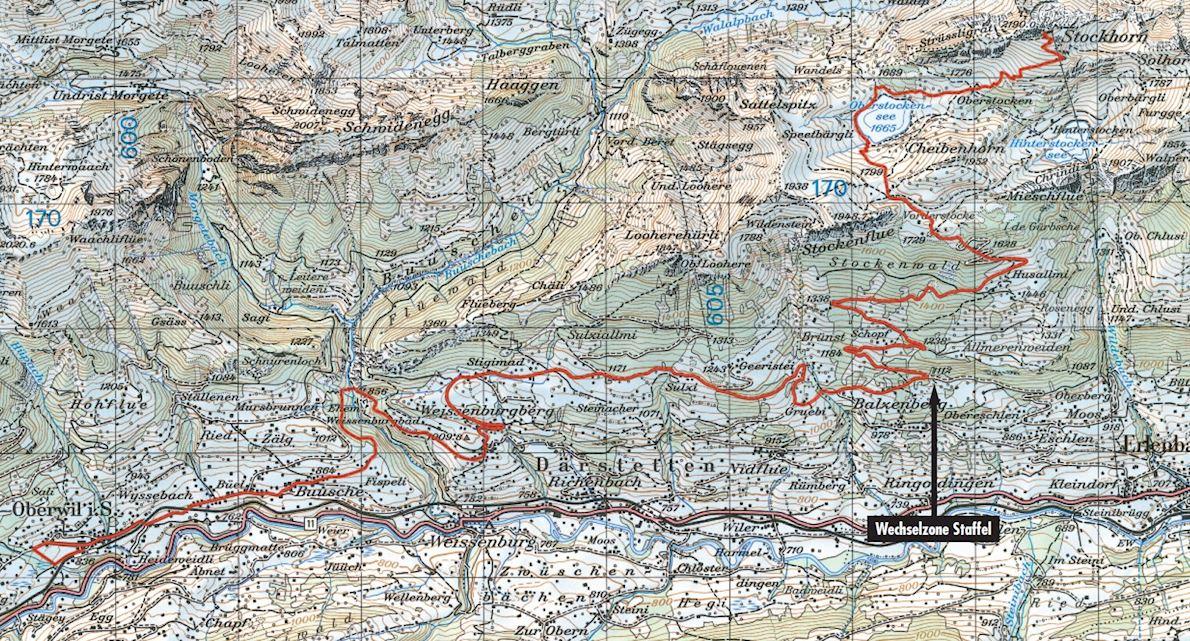 Stockhorn Half Marathon Route Map