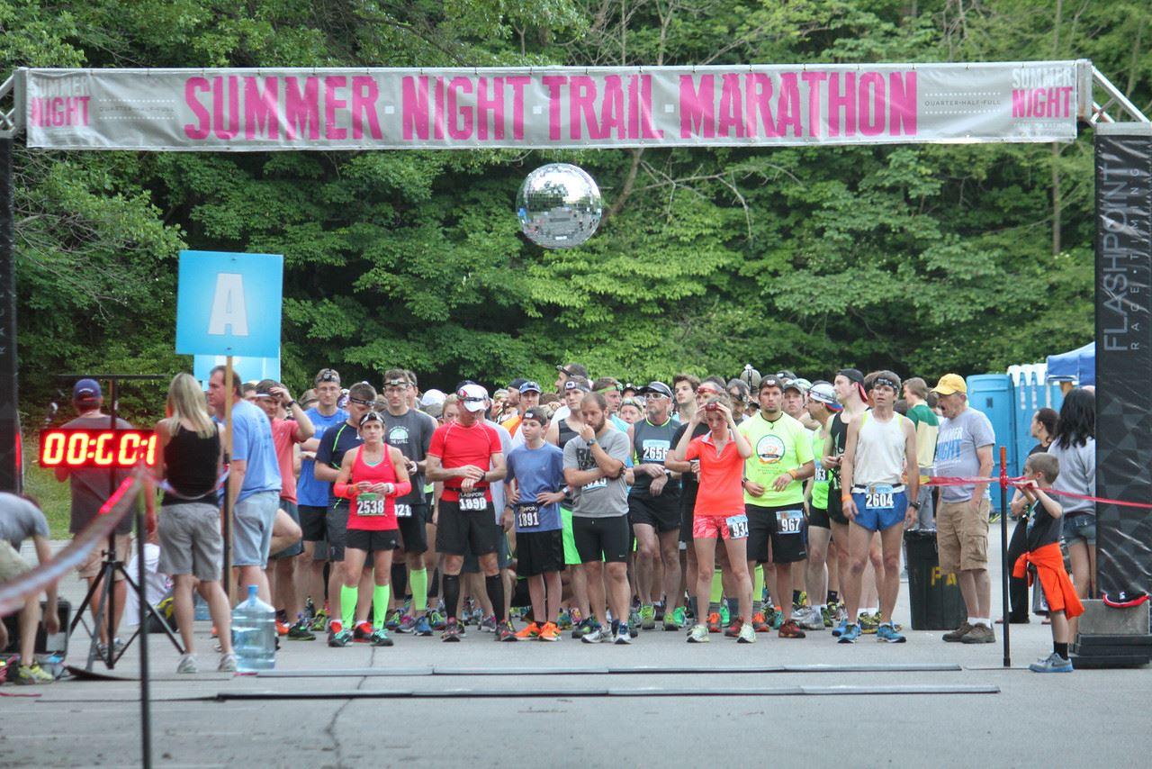 summer night trail marathon