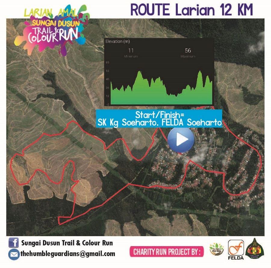 Sungai Dusun Trail and Colour Run ITINERAIRE