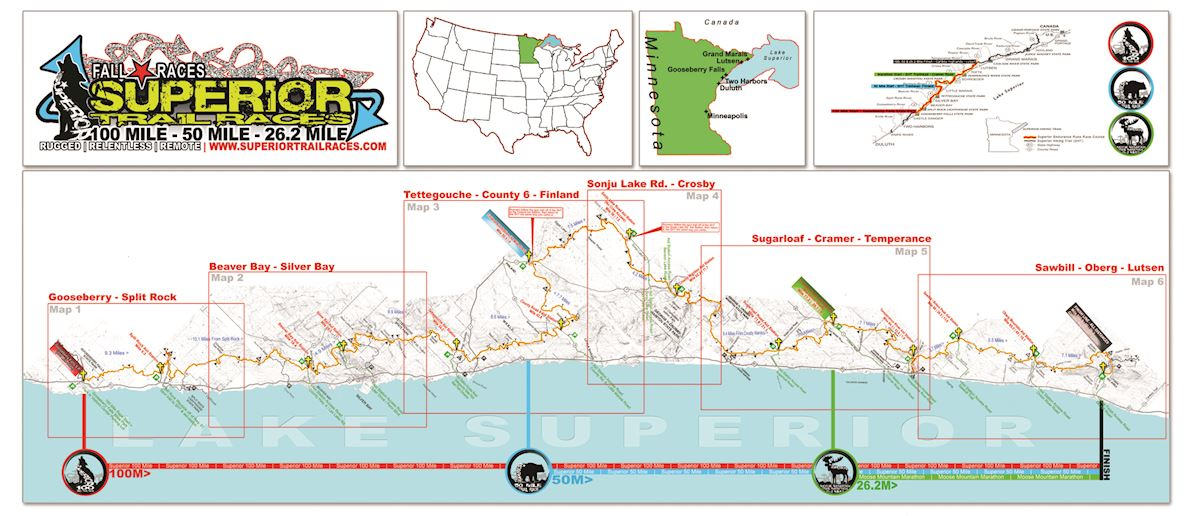 Fall Superior Trail Races MAPA DEL RECORRIDO DE