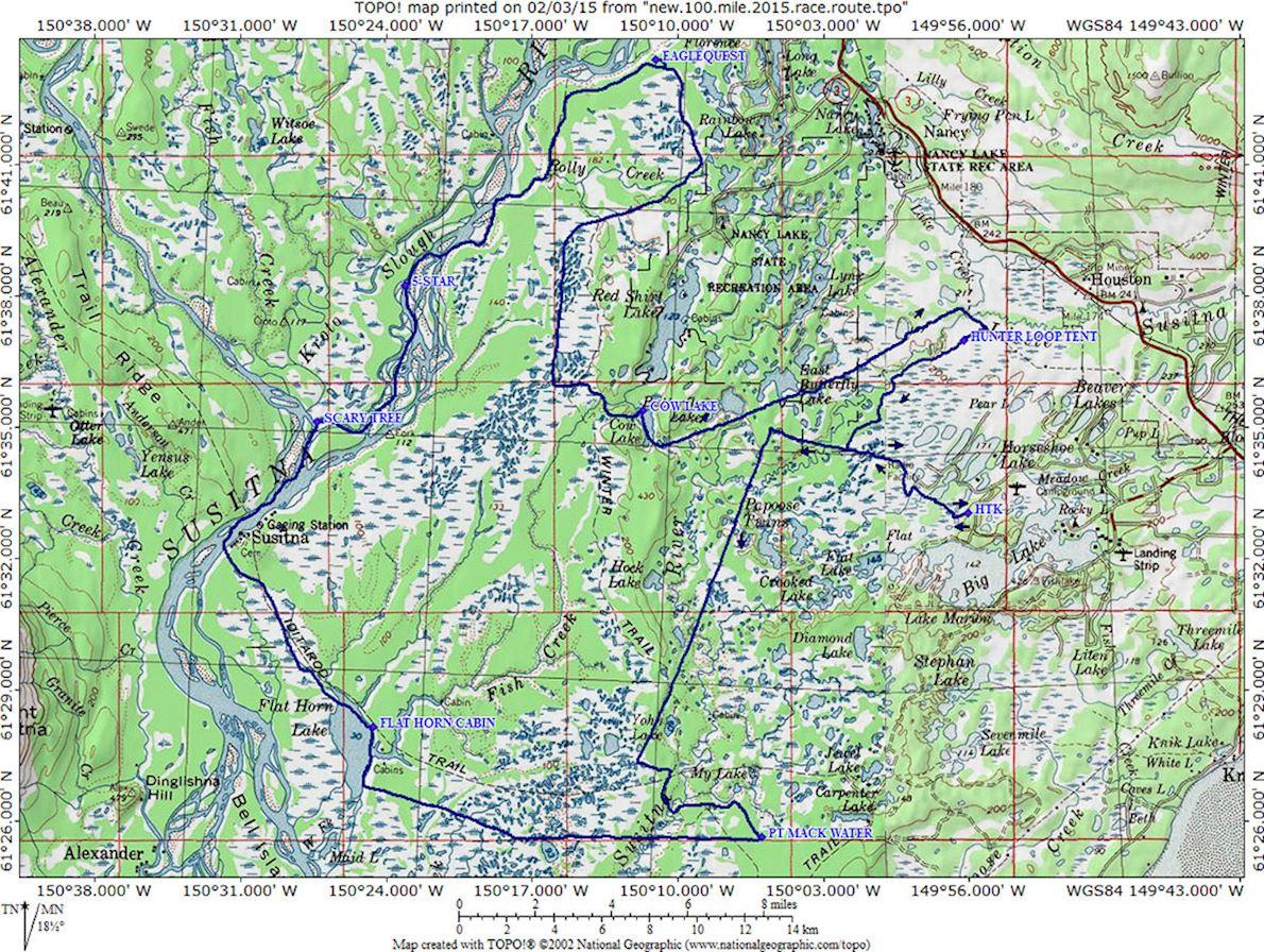 Sustina 100 Route Map
