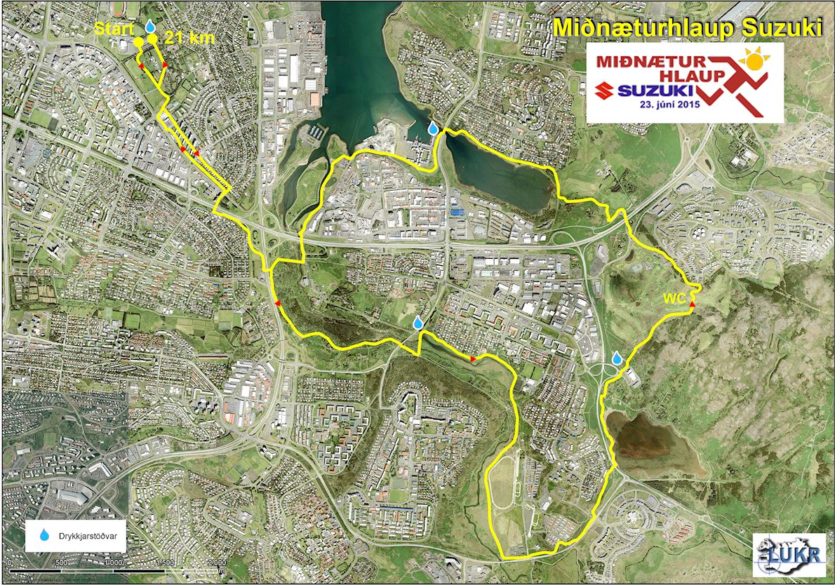 Suzuki Midnight Sun Run Mappa del percorso
