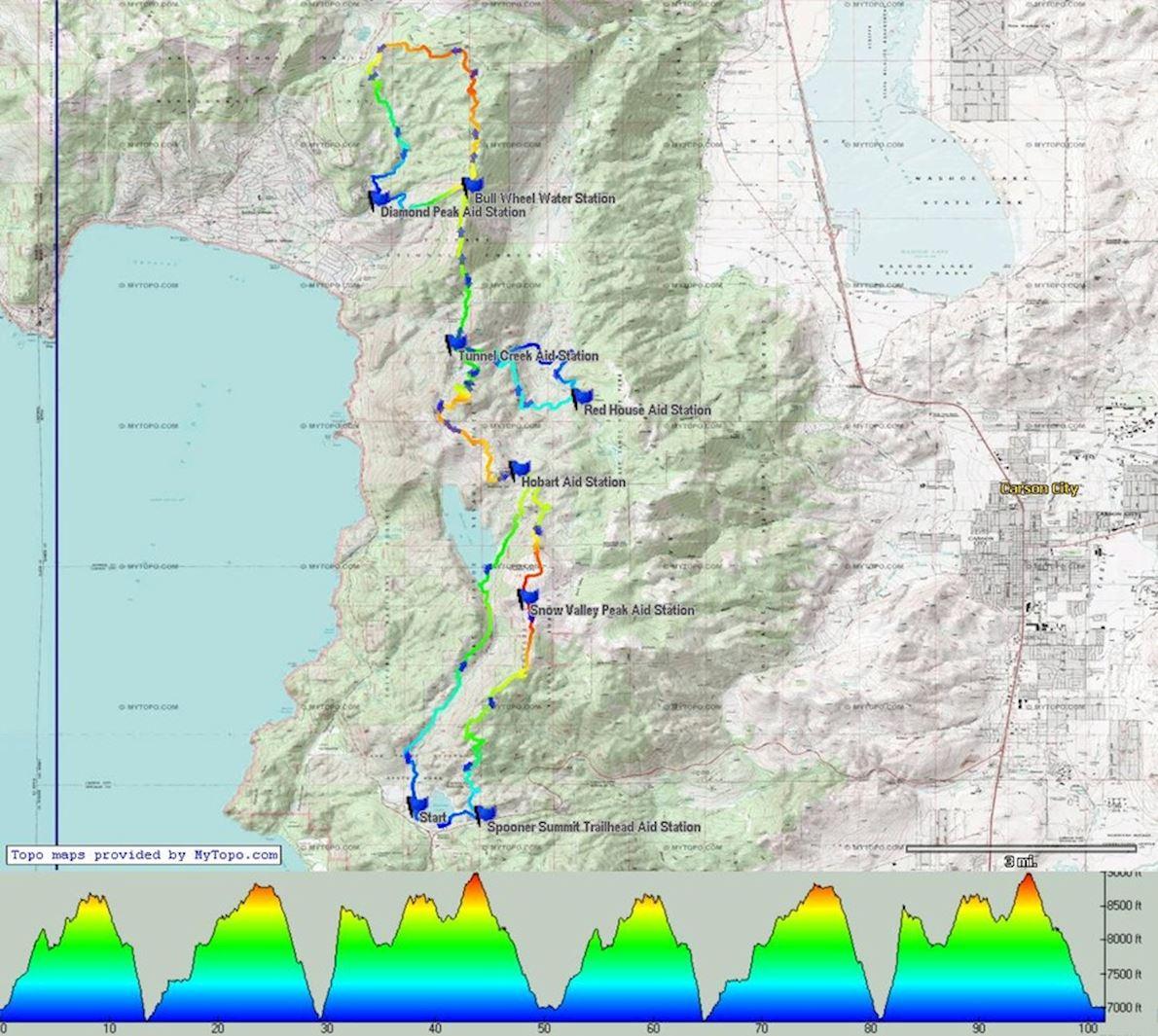 tahoe rim trail endurance runs 100m  jul 20 2019