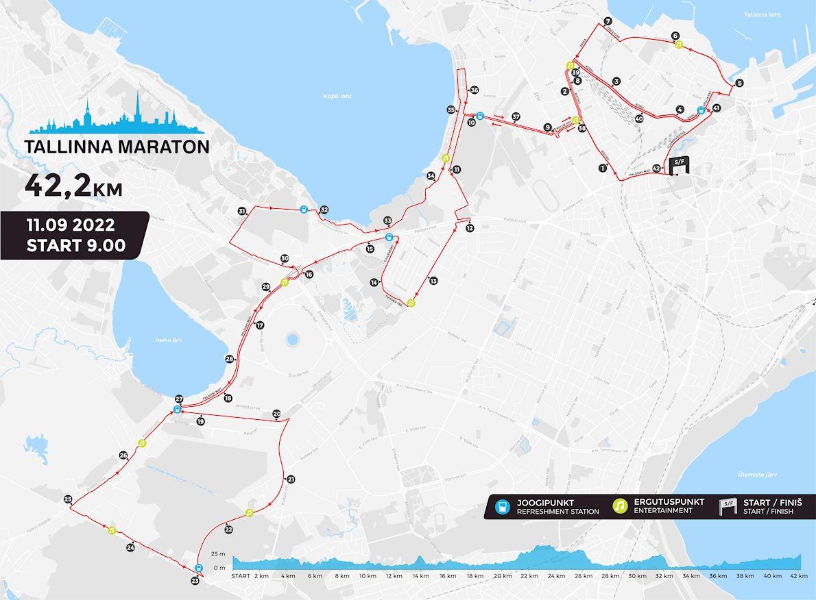 Tallinn Marathon Route Map