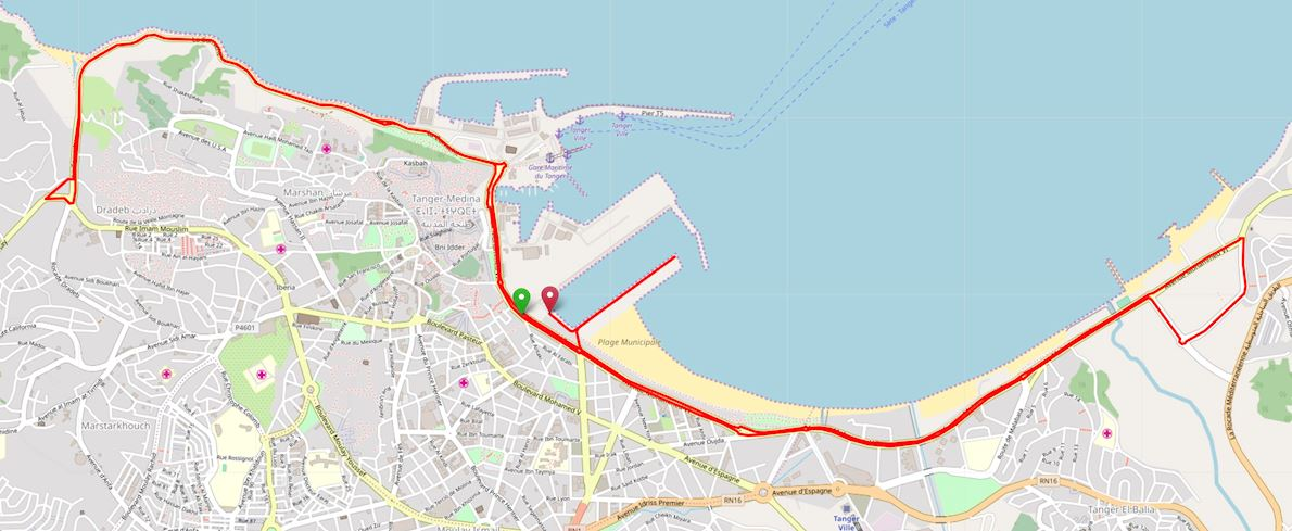 Tanger Marathon Route Map