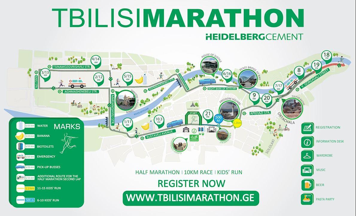 HeidelbergCement Tbilisi Marathon Routenkarte