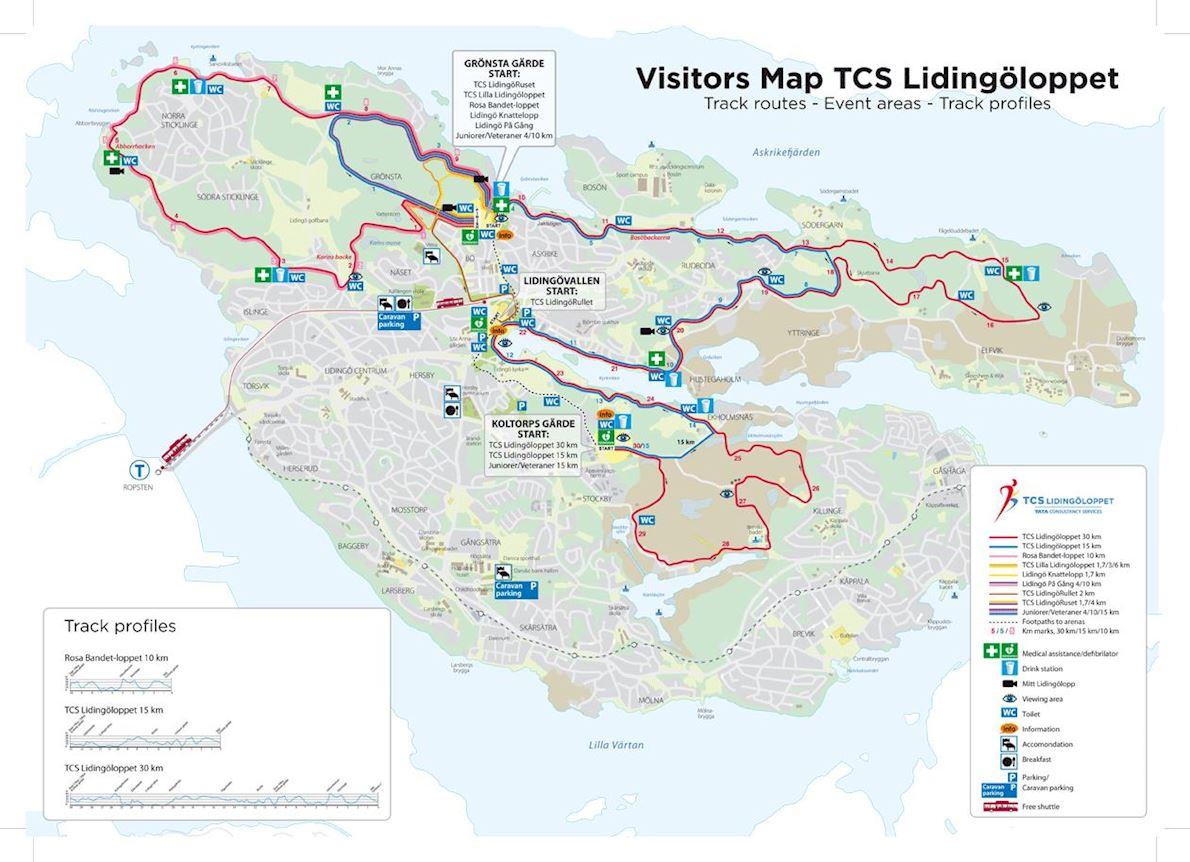 TCS Lidingöloppet Weekend MAPA DEL RECORRIDO DE