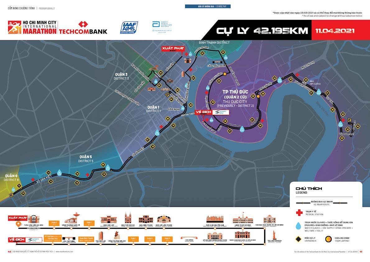 Techcombank Ho Chi Minh City International Marathon Route Map
