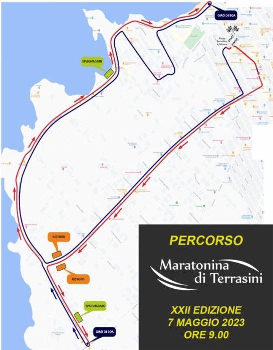 Terrasini Half Marathon Route Map