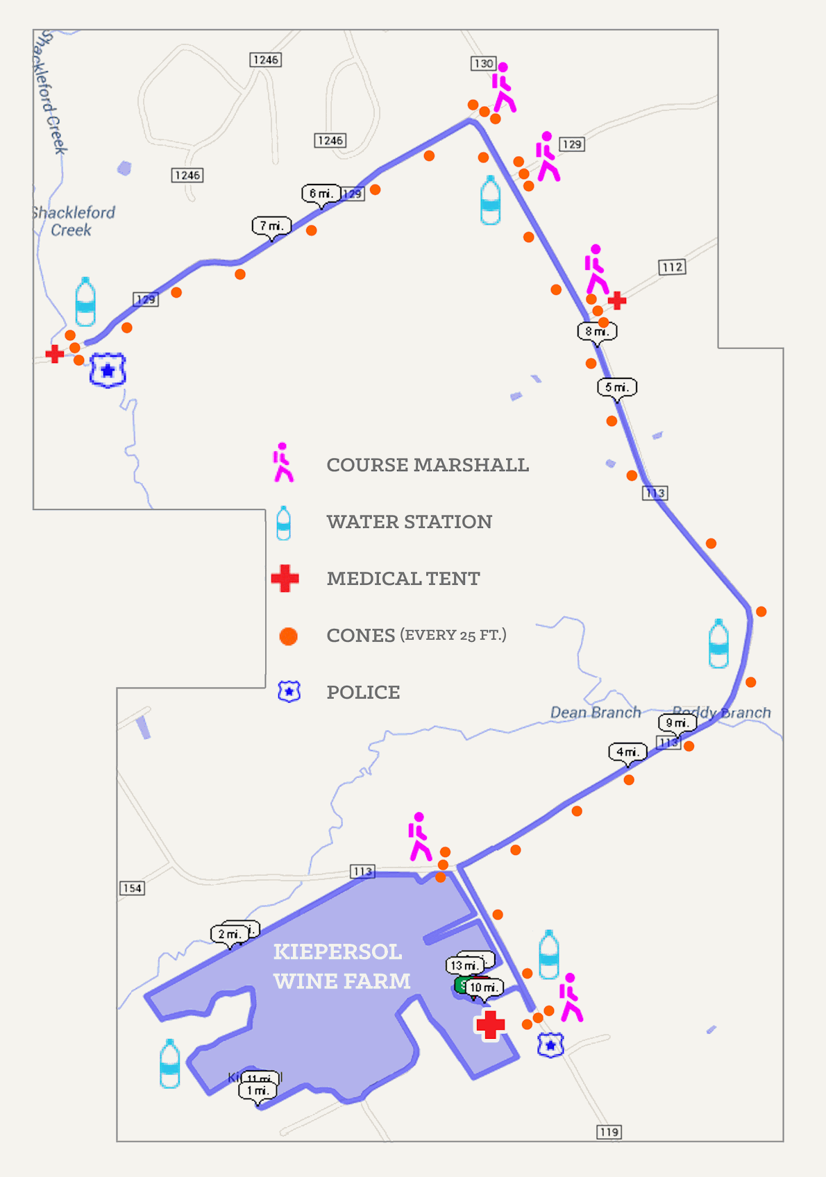 Texas Wine Series at Kiepersol Wine Farm Route Map