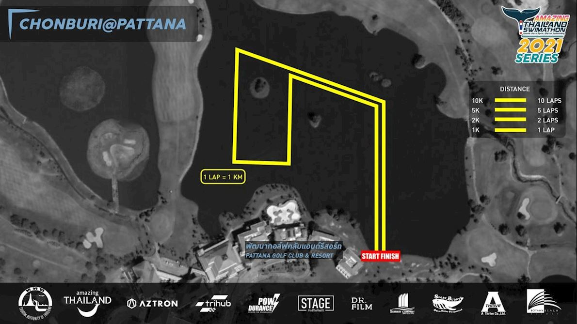 Thailand Swimathon Chonburi Pattana Mappa del percorso