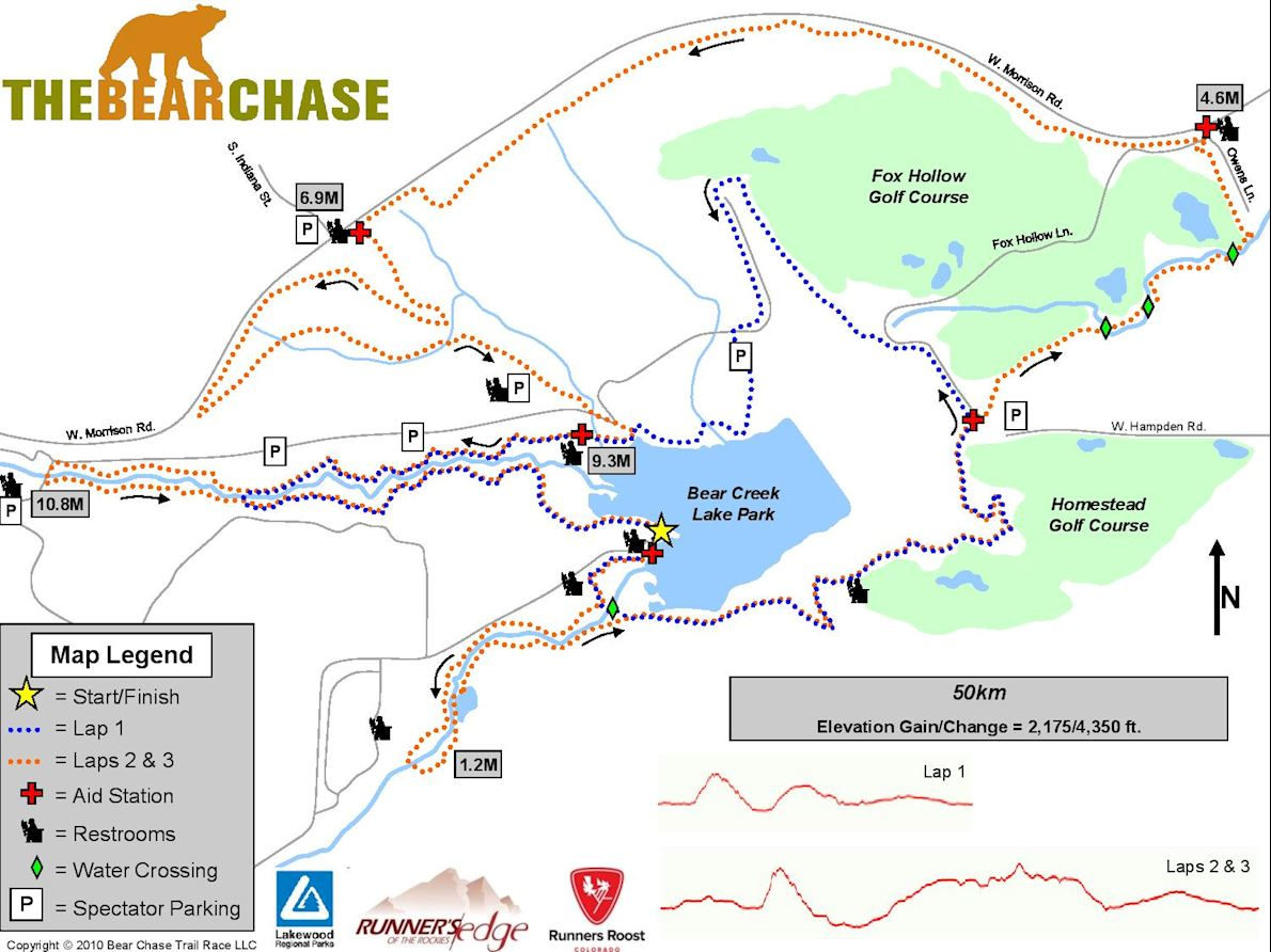 The Bear Chase Trail Race 50K 路线图