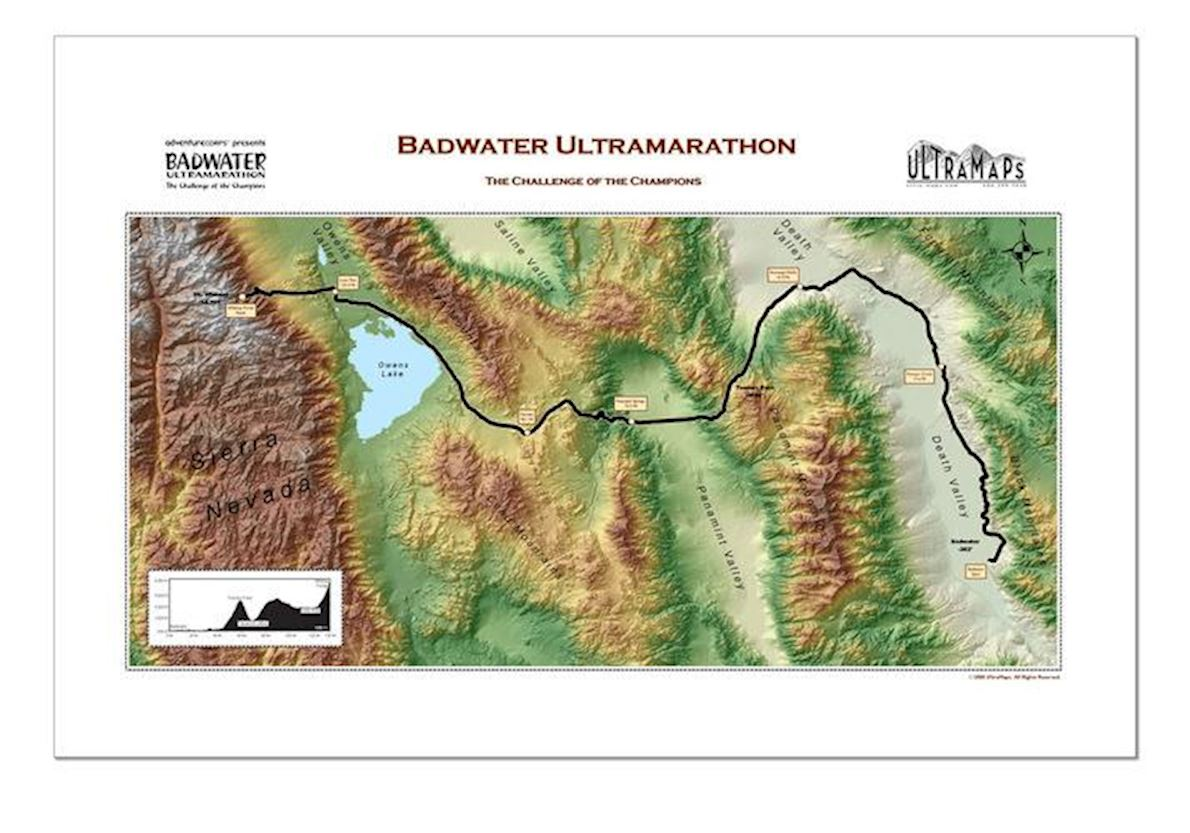Badwater 135 Route Map
