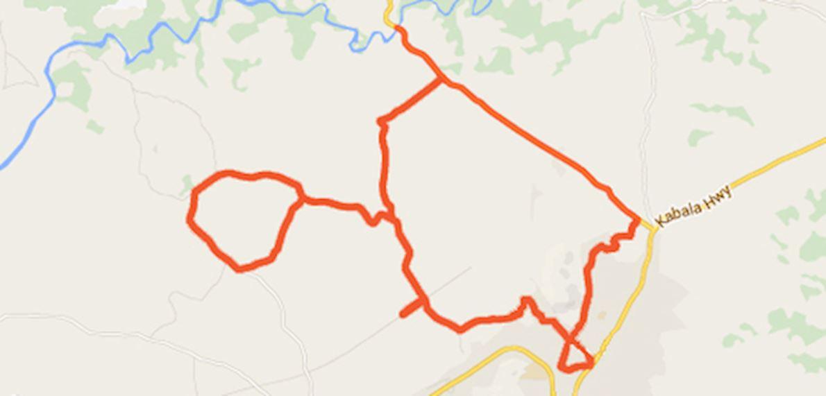 Sierra Leone Marathon 路线图