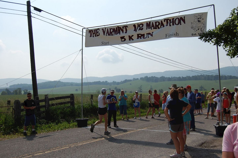 the varmint 1 2 marathon 5k run