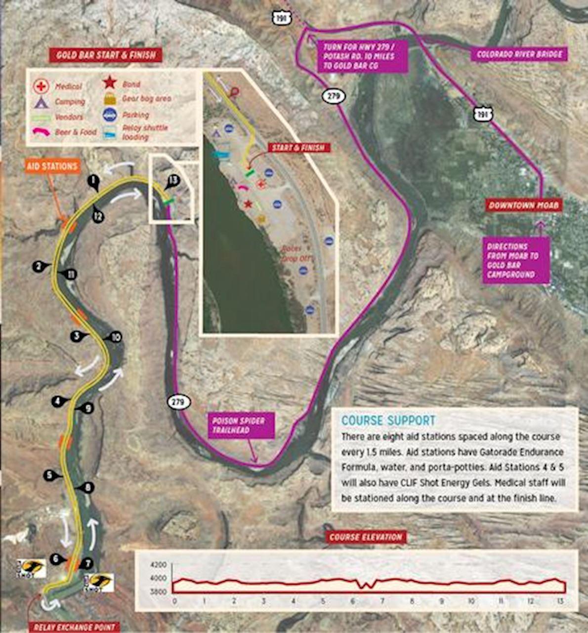 Thelma & Louise Half Marathon Routenkarte