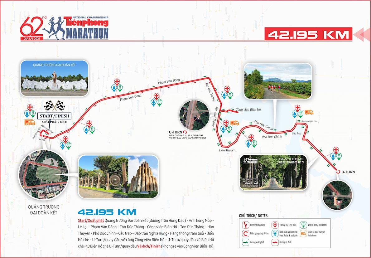 Tien Phong Marathon Routenkarte