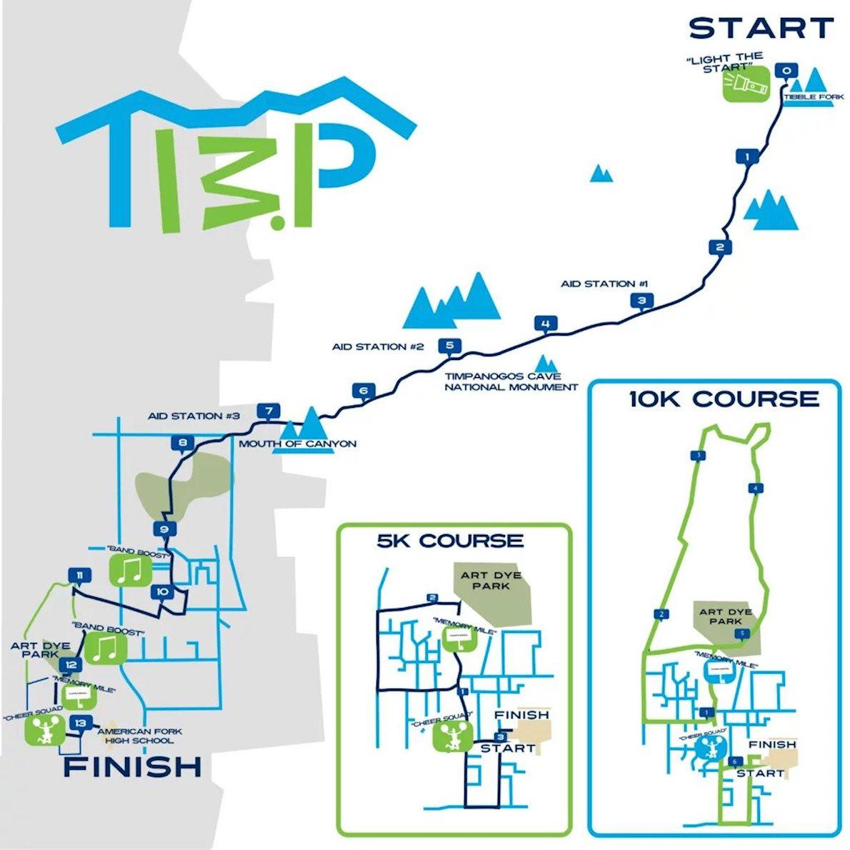 Timpanogos Half Marathon Routenkarte