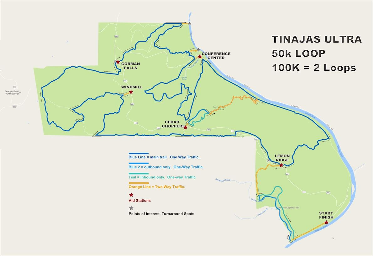 Tinajas Ultras Route Map