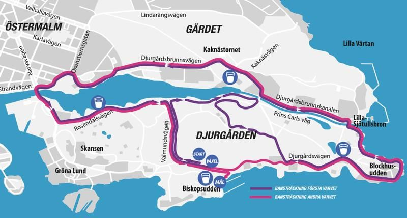Tjejmilen 21K Route Map