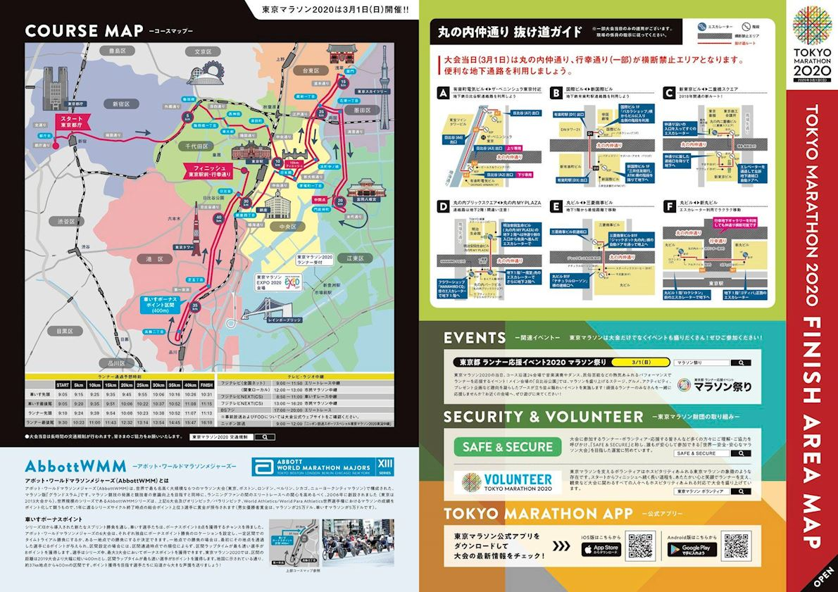 Tokyo Marathon Routenkarte