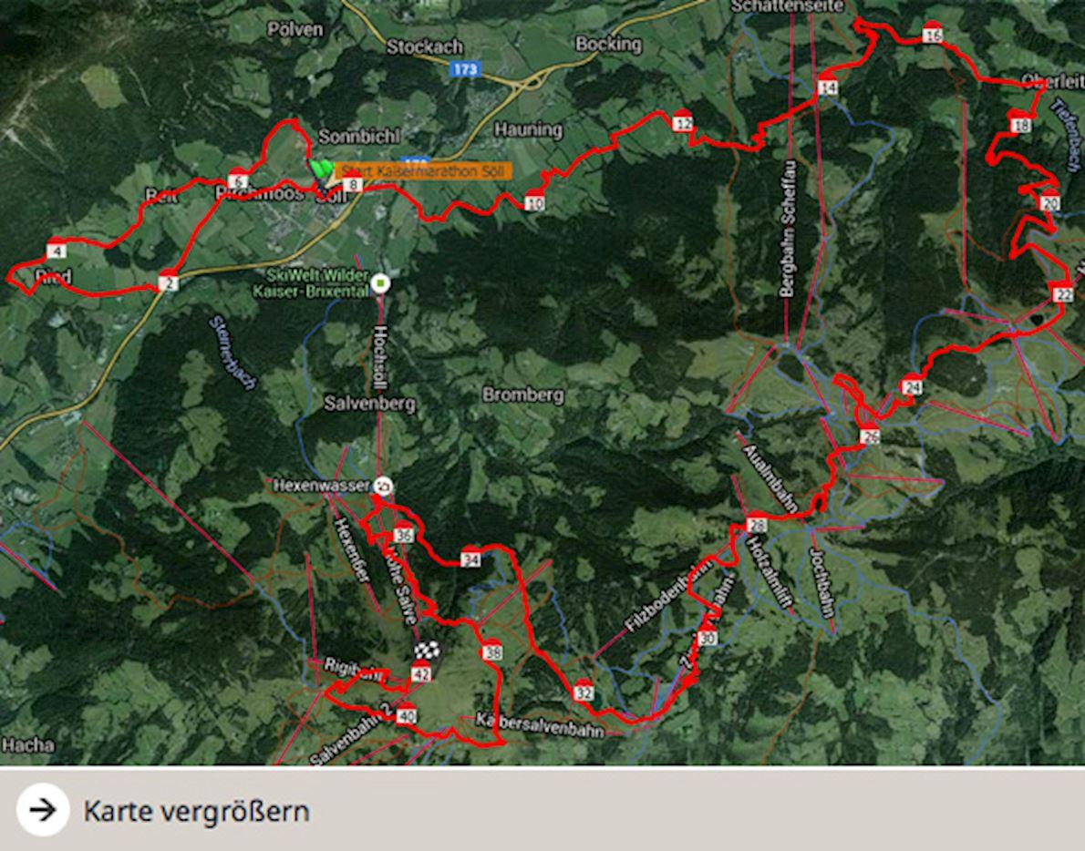 Tour de Tirol Routenkarte