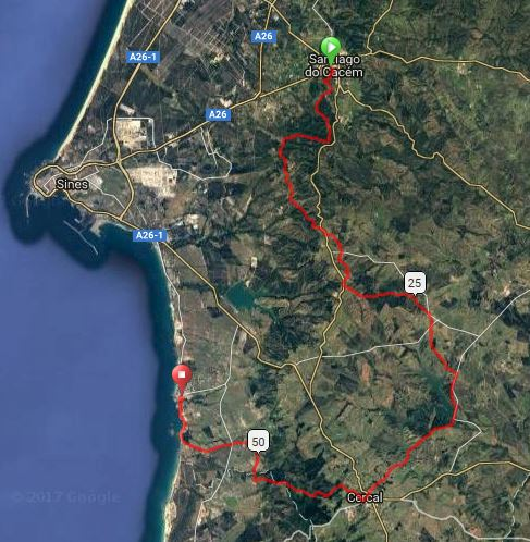 TRAIL COSTA VICENTINA  Route Map