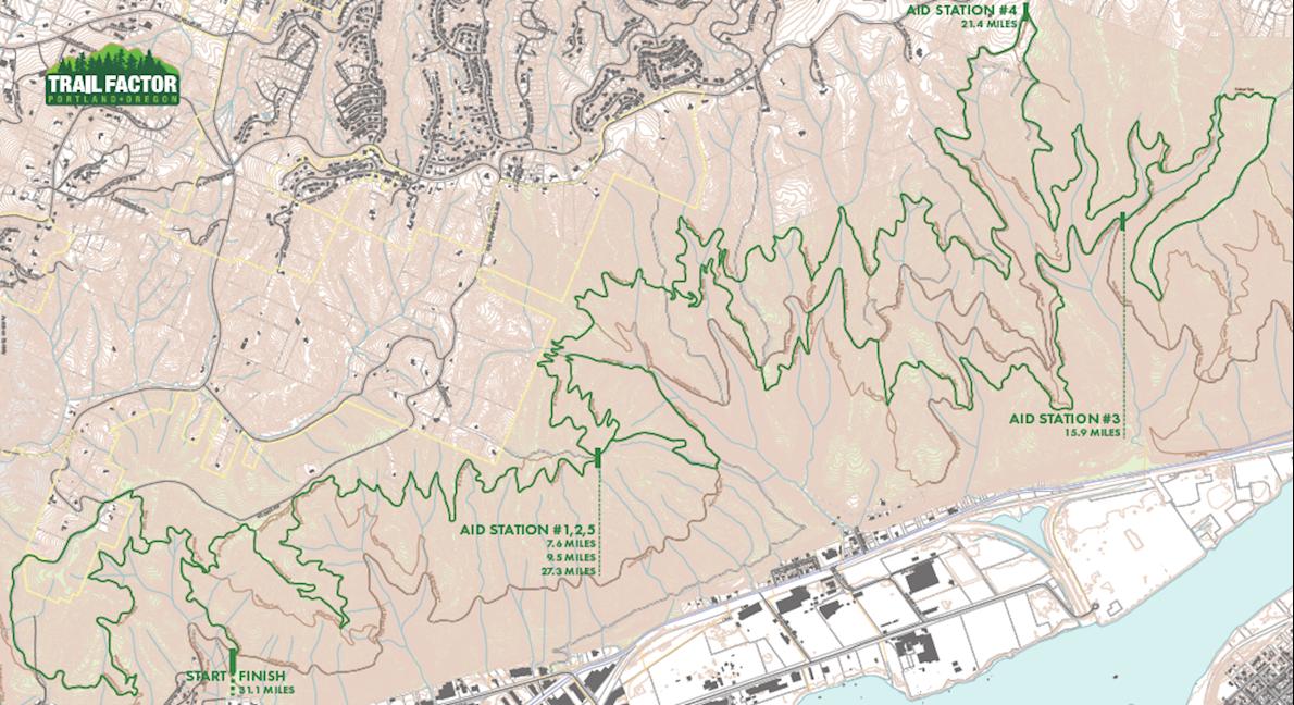 Trail Factor 50k 路线图