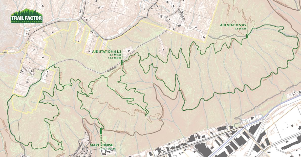 Trail Factor Half Marathon MAPA DEL RECORRIDO DE