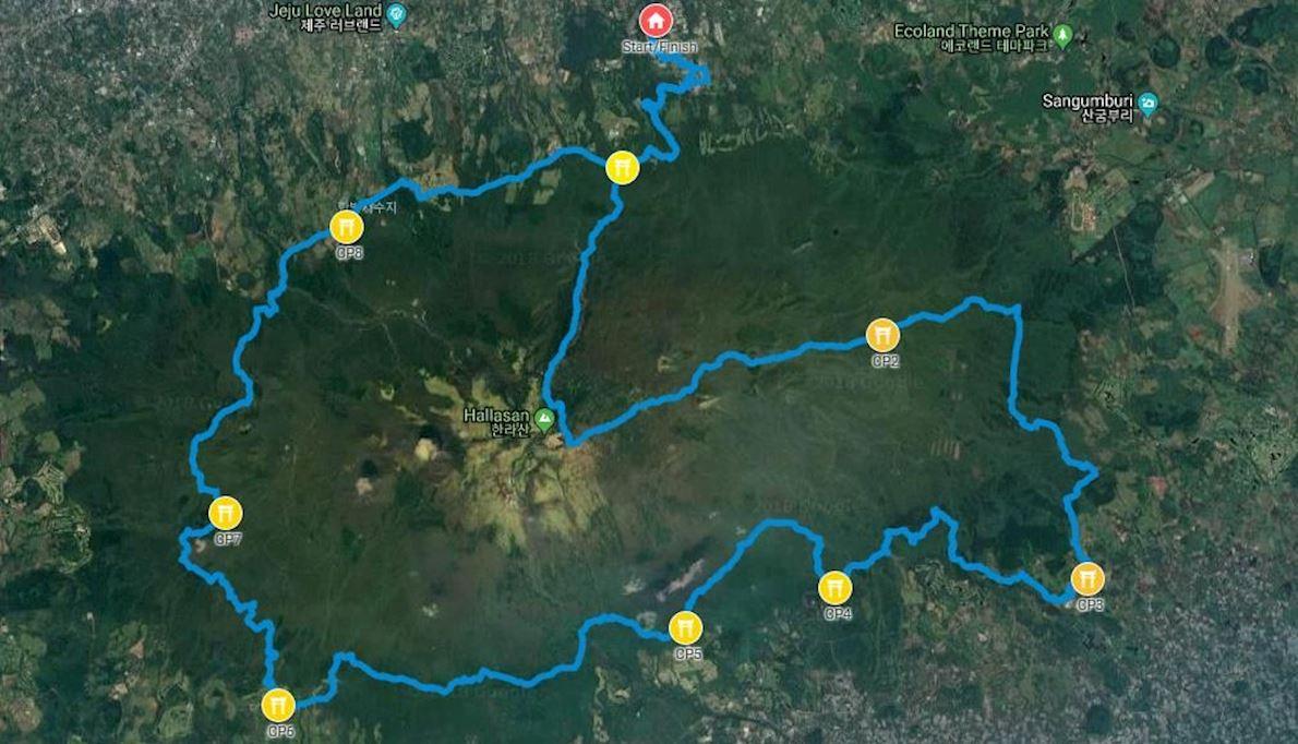 Trail Jeju Mappa del percorso
