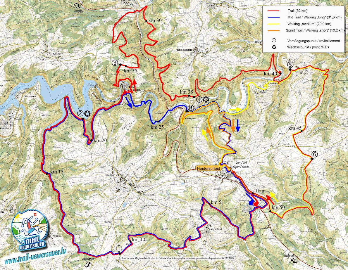 Trail Uewersauer Route Map