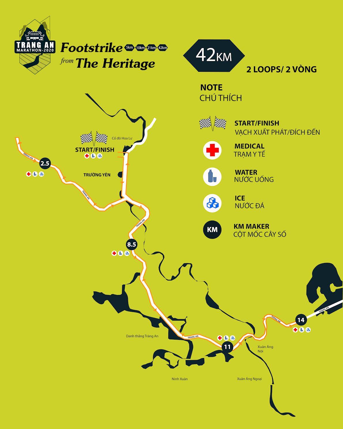 Trang An Marathon Mappa del percorso
