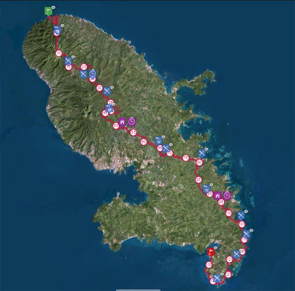 TransMartinique Mappa del percorso