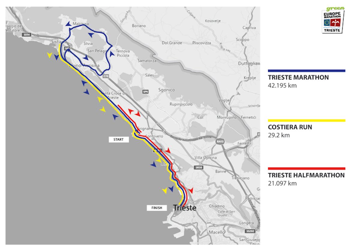 Trieste Half Marathon Mappa del percorso