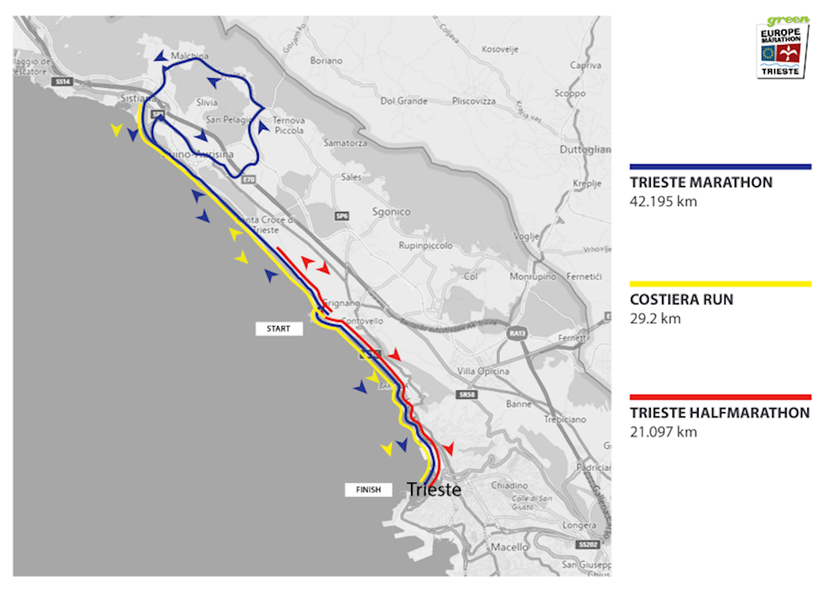Trieste 21K Route Map