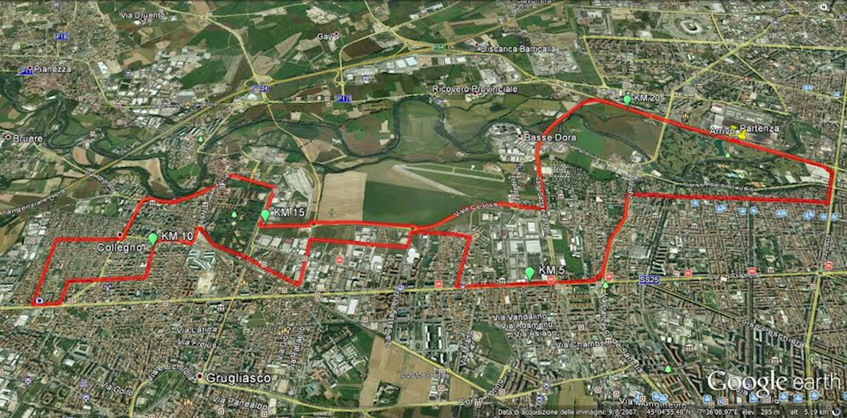 Turin Half Marathon Gran Premio Città Di Collegno Mappa del percorso