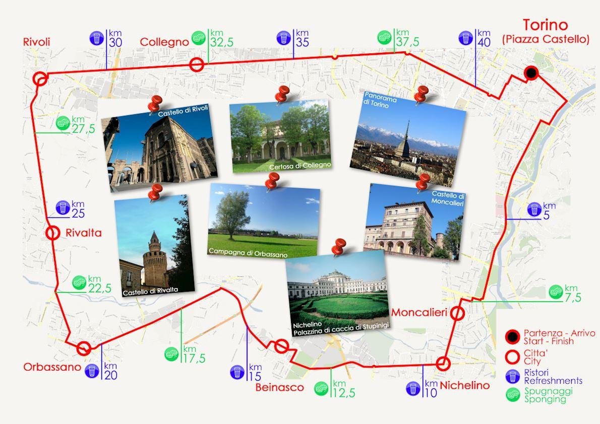Turin Marathon Gran Premio La Stampa 路线图