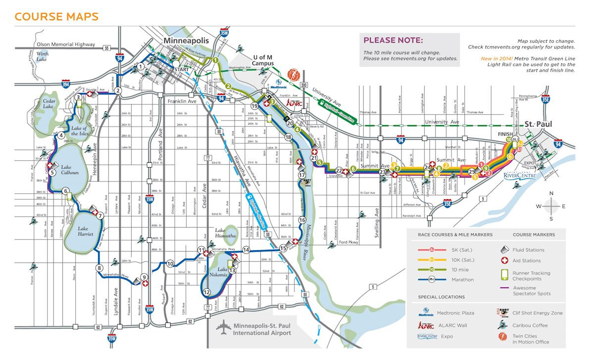 Medtronic Twin Cities Marathon Route Map