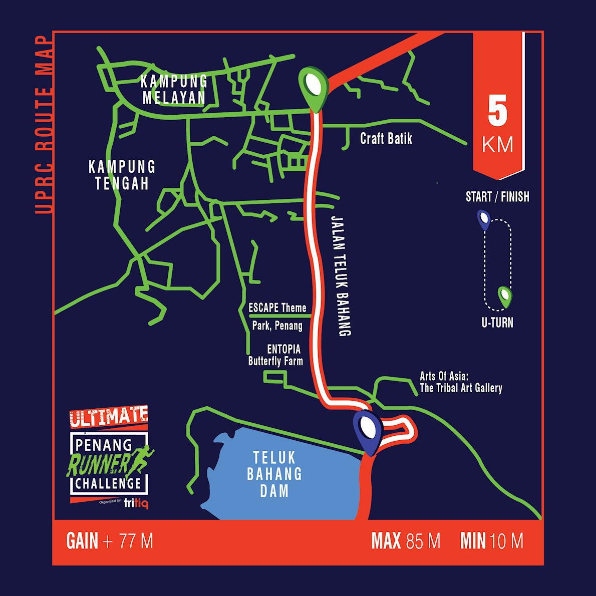 Ultimate Penang Runner Challenge Route Map