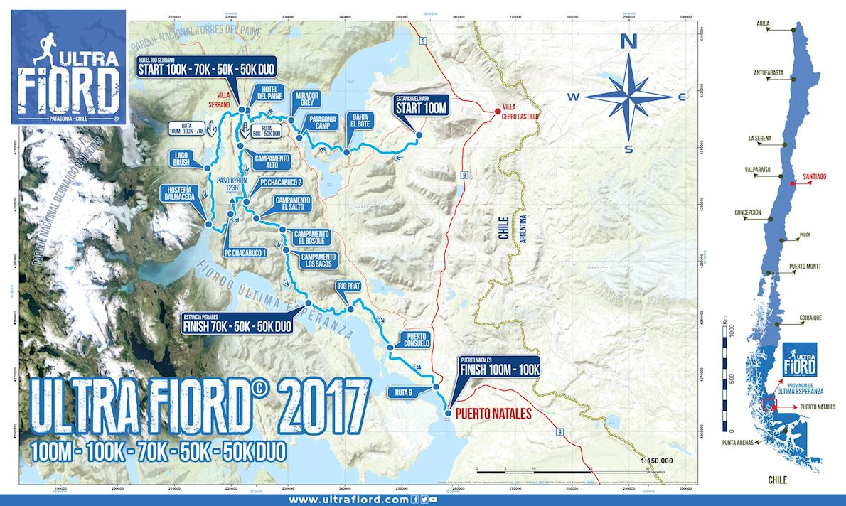 Ultra Fiord Route Map