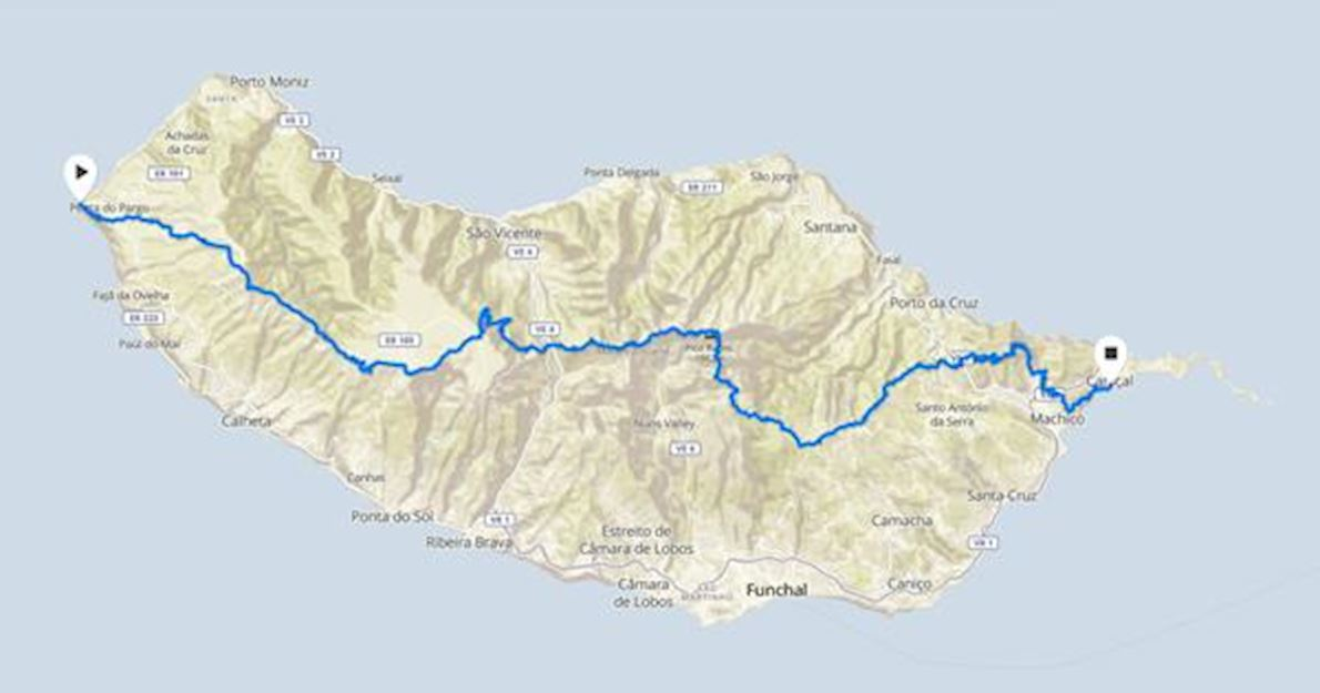 Ultra Madeira Route Map
